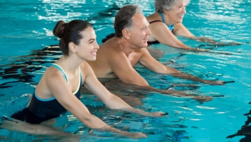 Water workout, aqua aerobics or aquatic therapy can be a great way to stay fit in summers.