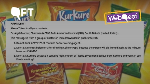 The viral messaging claiming certain food products were cancerous and even lethal.
