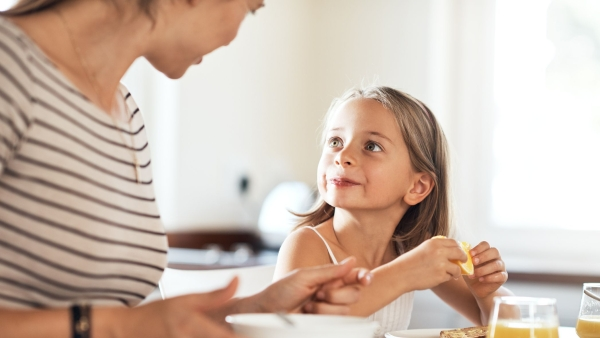 Talking about food benefits is likely to get your kid to eat healthier.