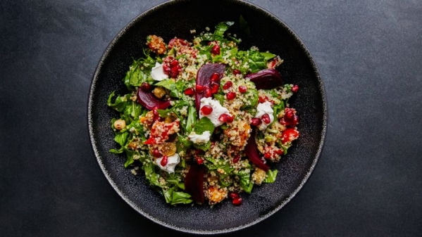 Tried the quinoa salad with beet root and spinach bowl?