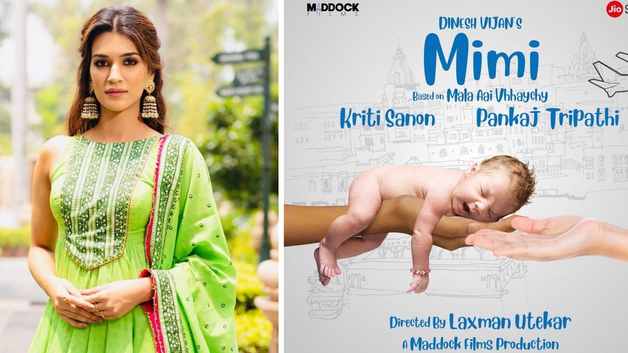 Kriti Sanon Shares Poster of 'Mimi', a Film Based on Surrogacy