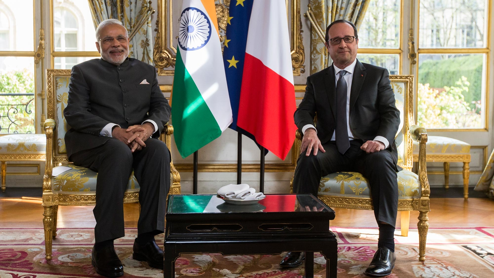Image result for pics of modi and hollande