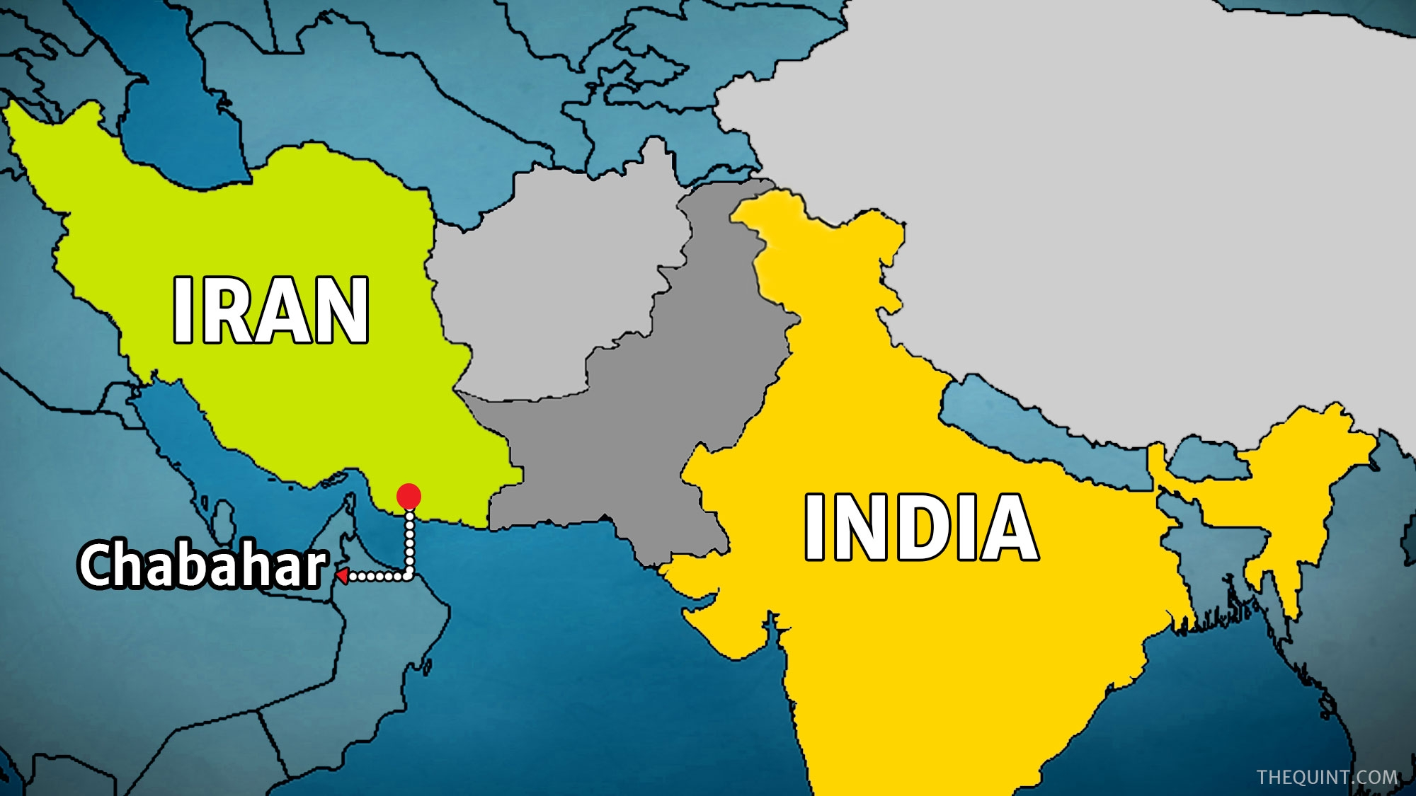 Map Of Iran And India India, Iran Discuss Possible Impact of US Sanctions on Oil Trade