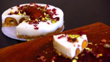 DIY Make No Bake Eggless Gulab Jamun Cheesecake At Home