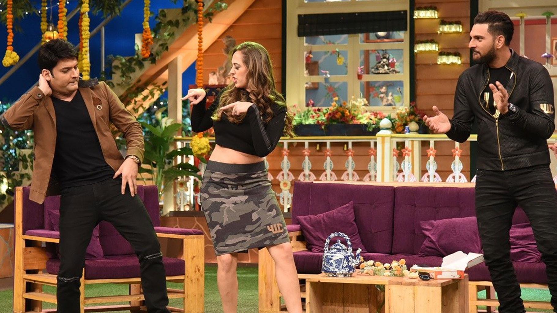 In Pics: Yuvraj Singh & Hazel Live It Up On Kapil Sharma's Show