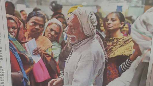 Photo of Retired Soldier Crying in a Bank Queue Goes Viral ...