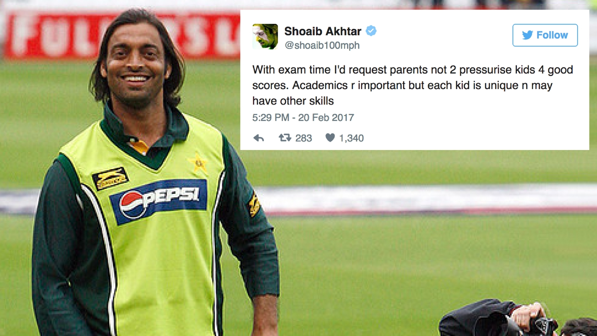 Shoaib Akhtar Has a Message for Parents, Kids Before Board