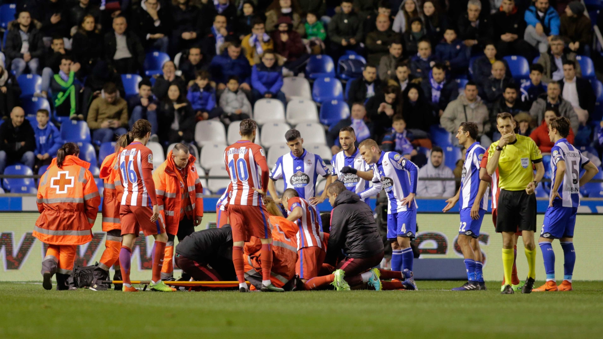 fernando torres collapses after head injury during