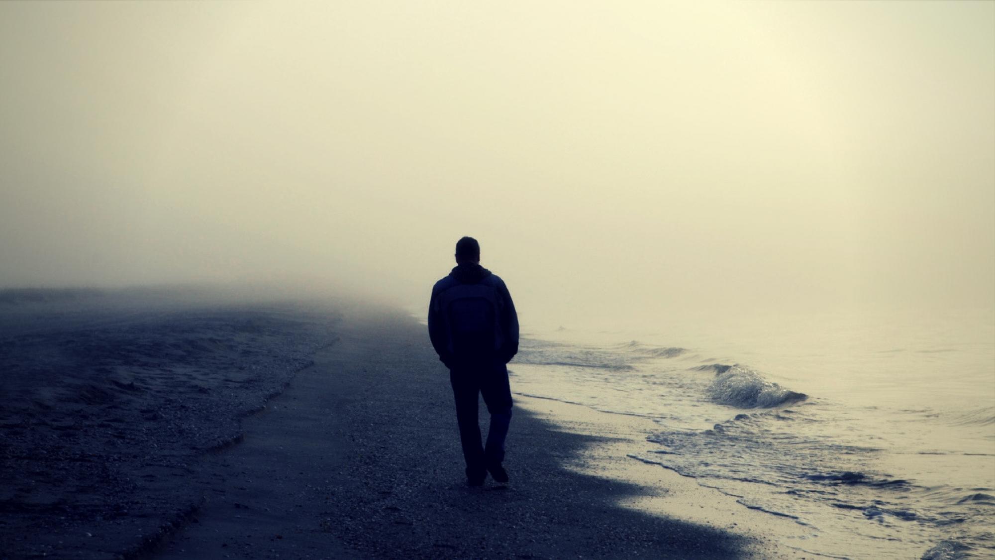 Картинки мужчина уходит в закат, дождя картинки