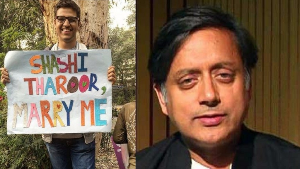 Boy Proposes to Tharoor at Delhi Pride & Twitter Loves His Reply