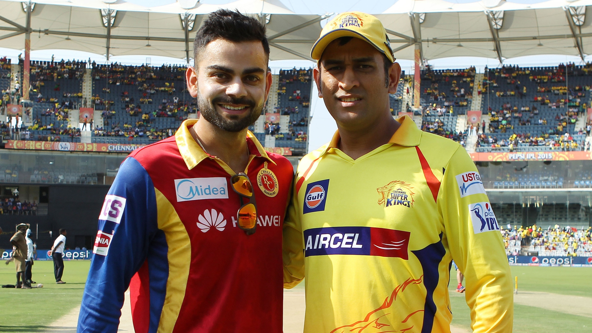IPL 2018: File photo of Virat Kohli and MS Dhoni