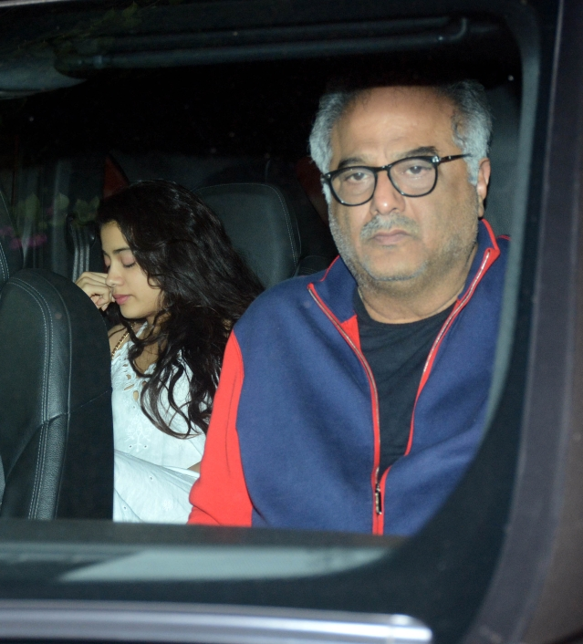 Boney with Janhvi Kapoor.