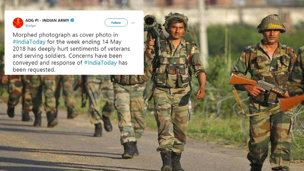 indian army  u201cdeeply hurt u201d by india today cover pic