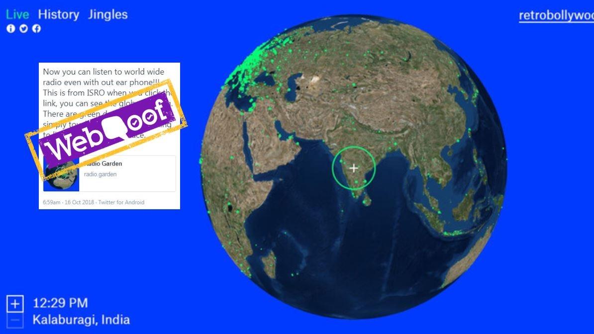WebQoof: No, ISRO Hasn't Developed an Online Worldwide Radio