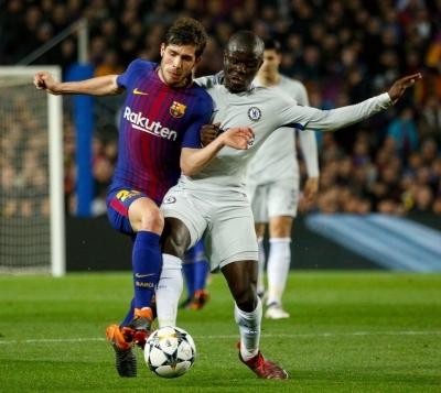 Barcelona Sergi Roberto rejoins team training