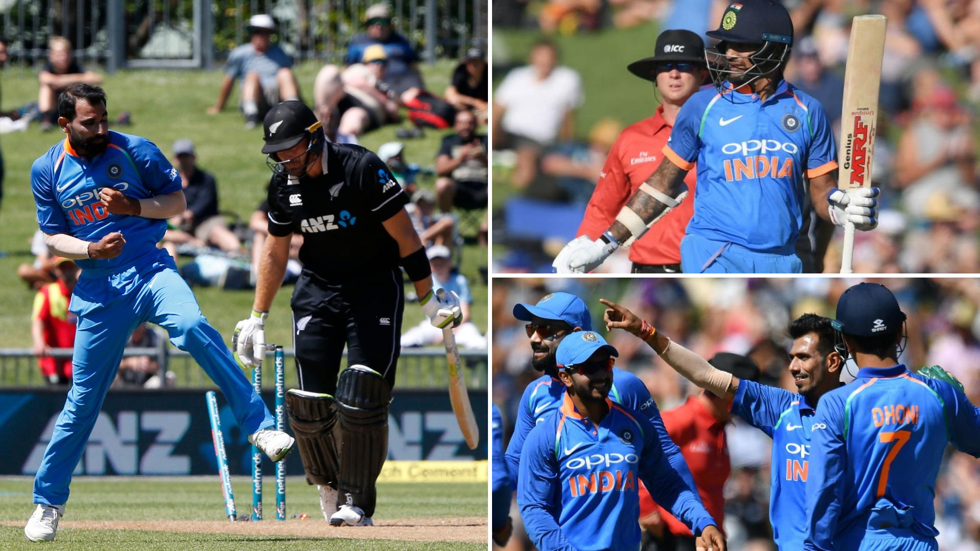 Shami, Spinners & Shikhar See India Sail in Series-opener vs Kiwis