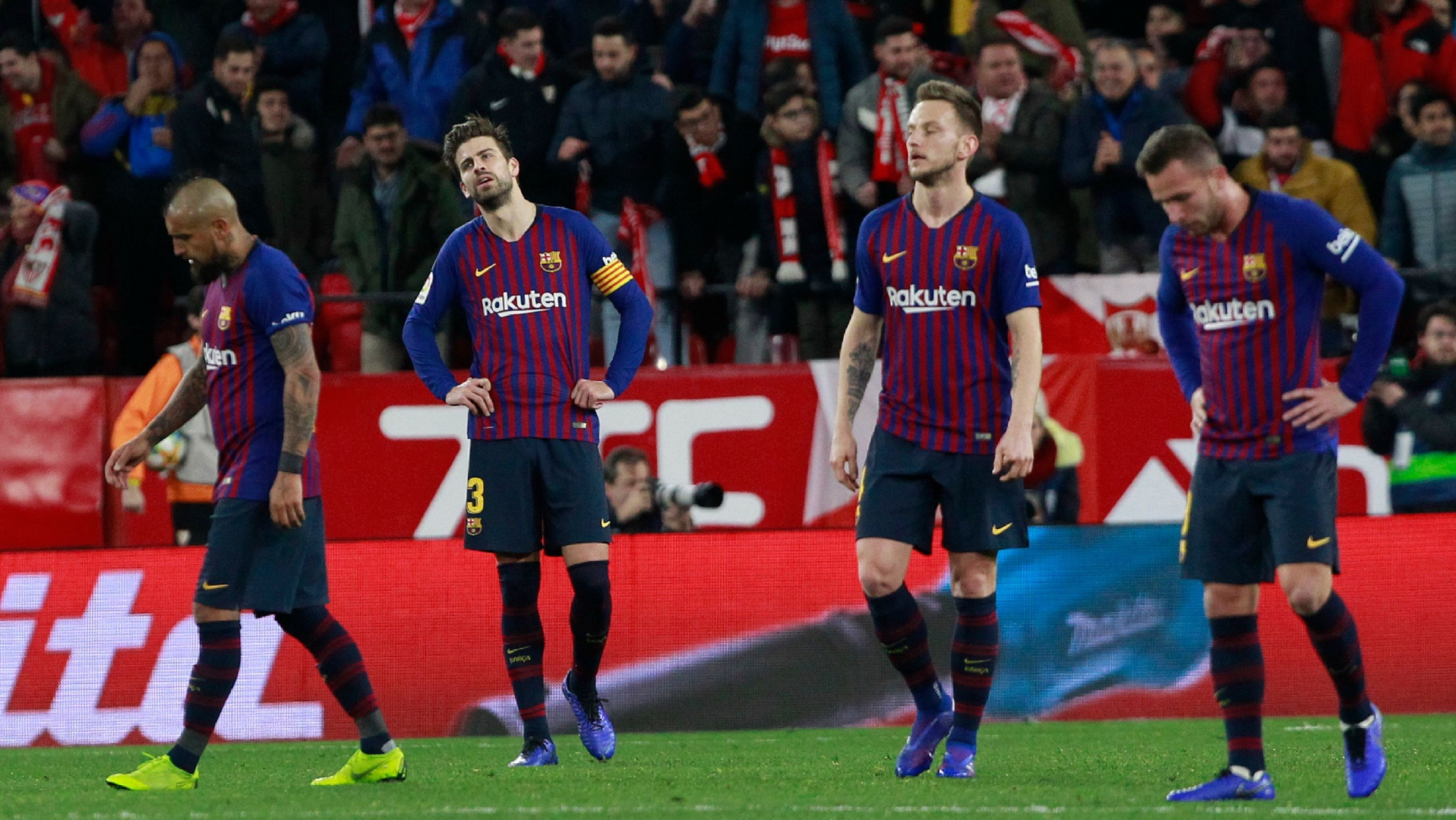 Messi-Less Barca Beaten 2-0 by Sevilla in Copa del Rey Q/F 1st Leg