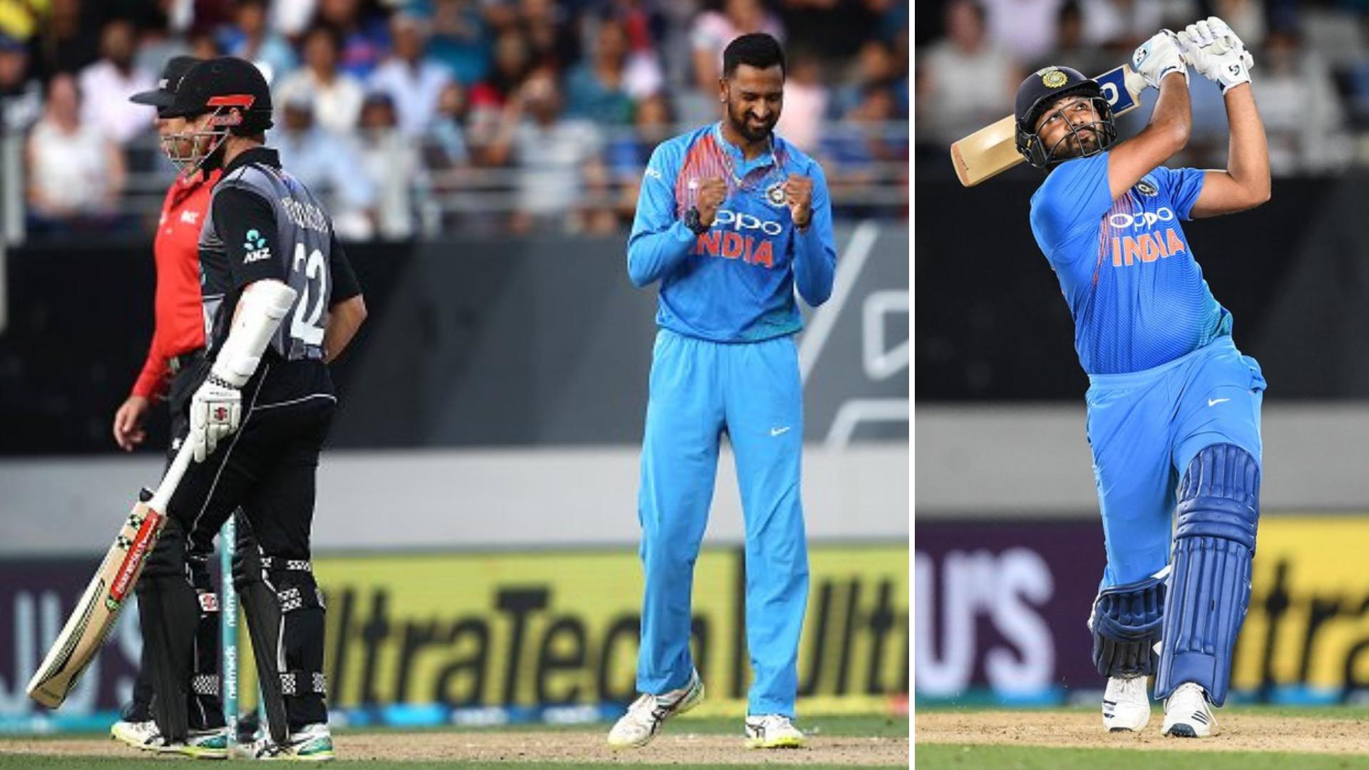 India Vs New Zealand 2nd T20i Krunal Rohit Star As India