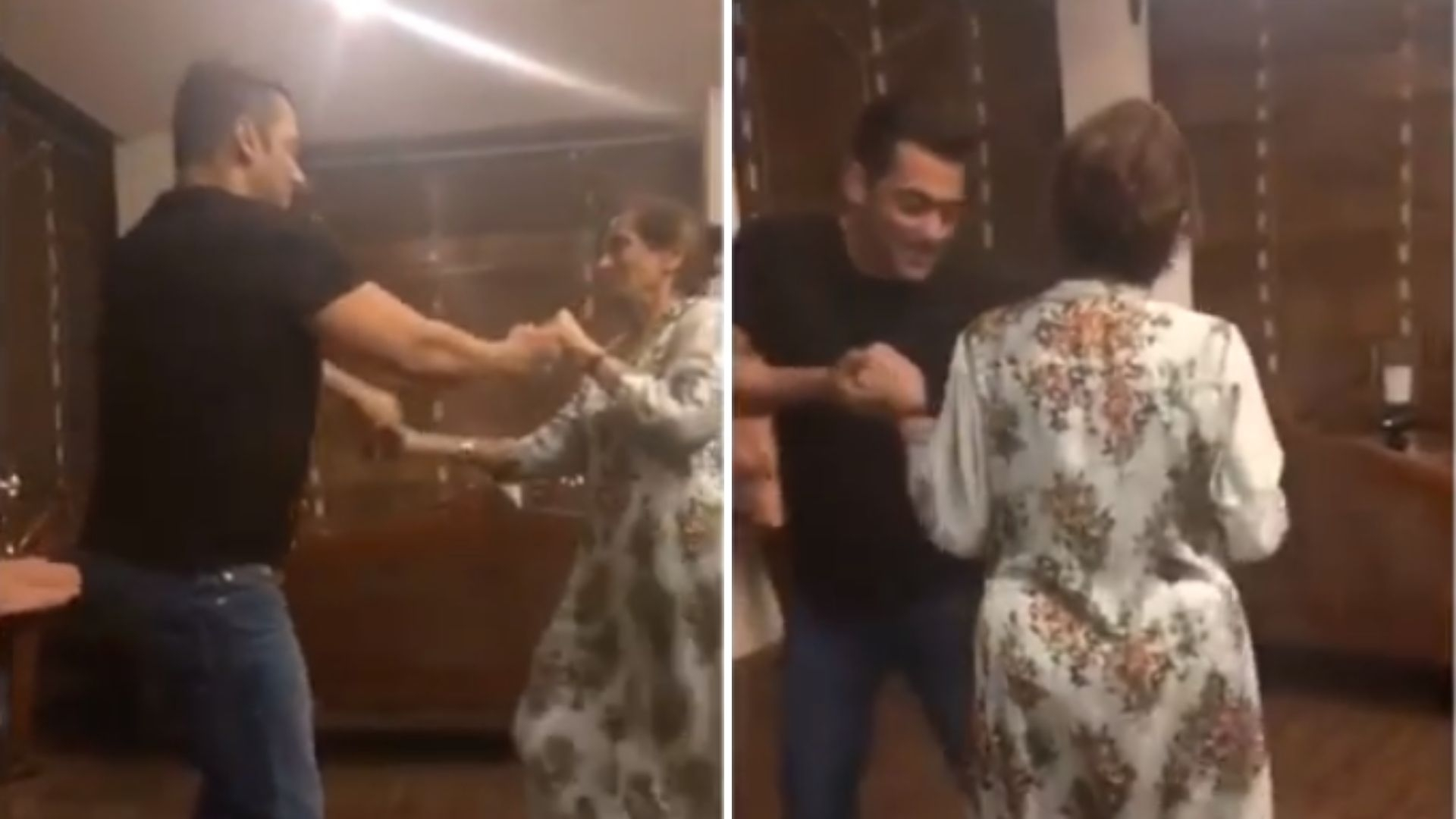 Watch: Salman & Mom Salma Waltzing to Cheap Thrills Is Adorable!