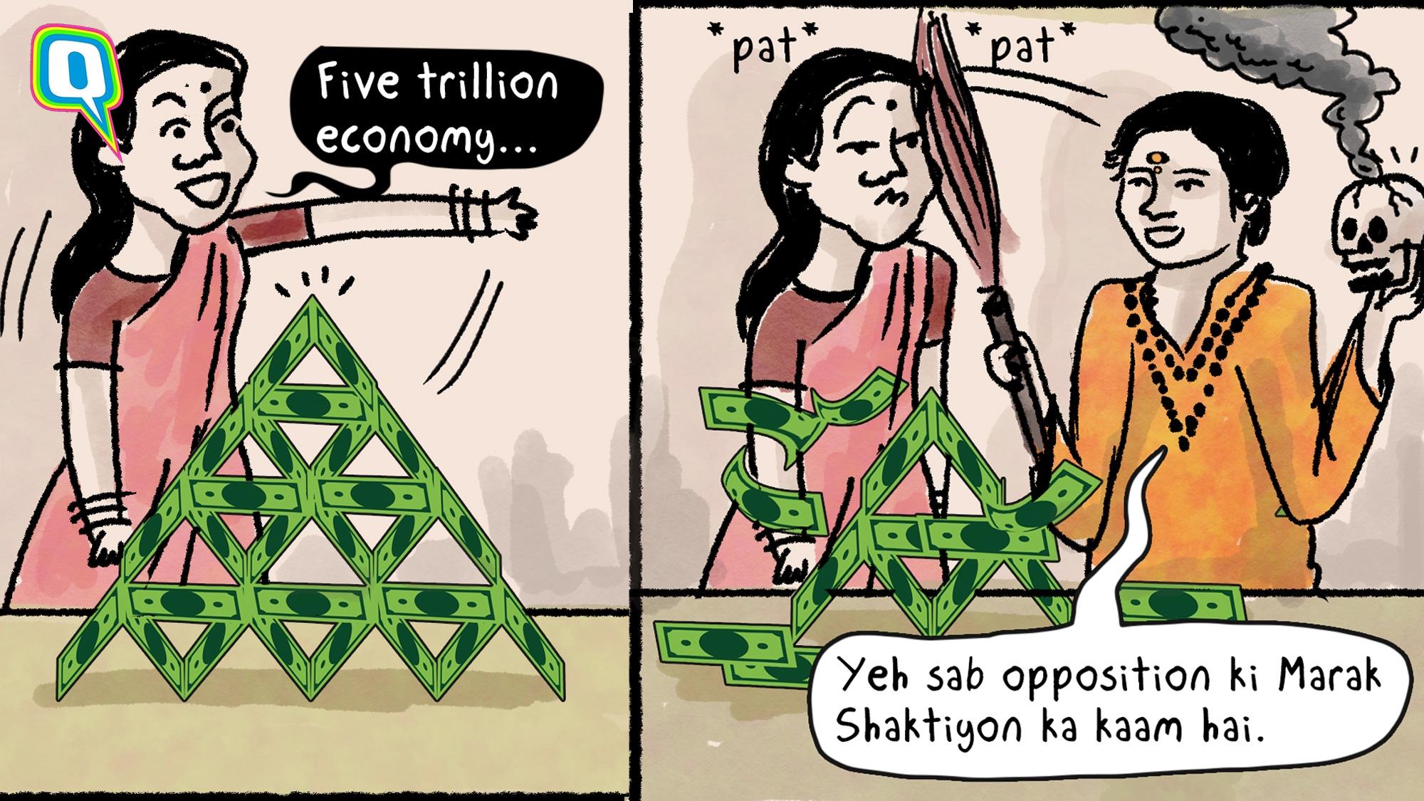 Cartoon: How Would Sadhvi Pragya Explain Our Declining Economy?