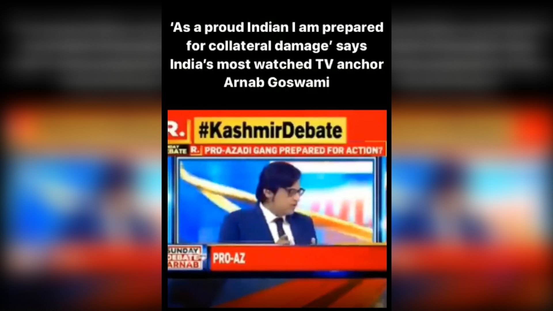 Did Arnab Goswami Really Call People of J&K 'Collateral Damage'?