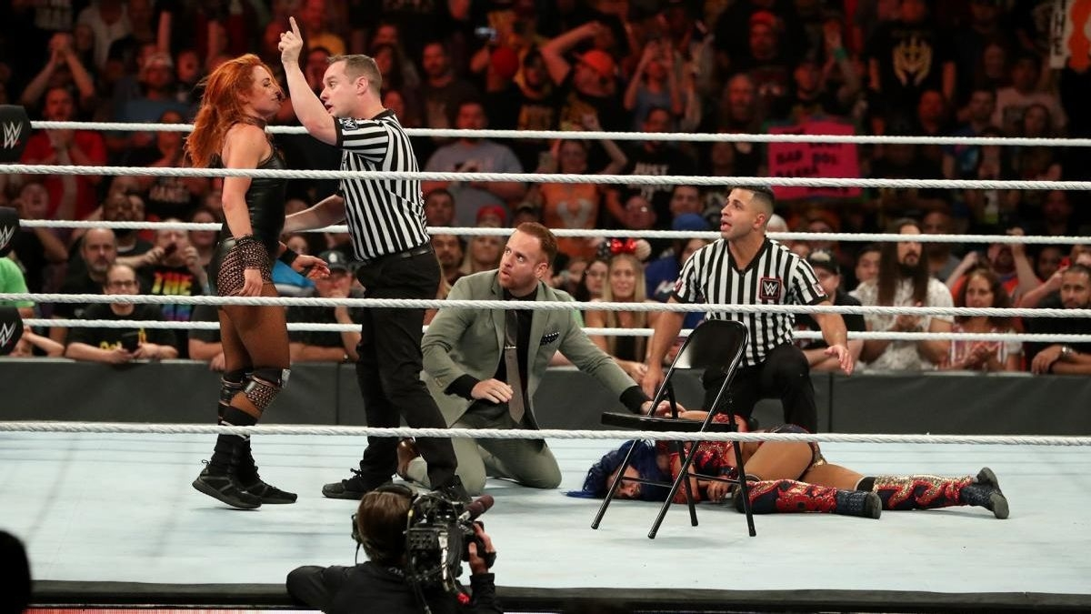 WWE Star Becky Lynch Fined for Swinging Chair at Referee