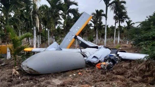 DRDO Rustom 2 UAV Crashes During Test Flight in Karnataka