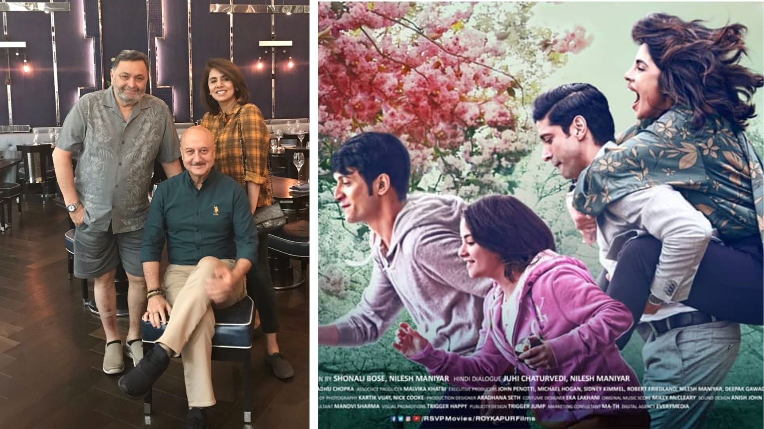 QuickE: Anupam Kher's Note for Rishi; 'The Sky Is Pink' Poster