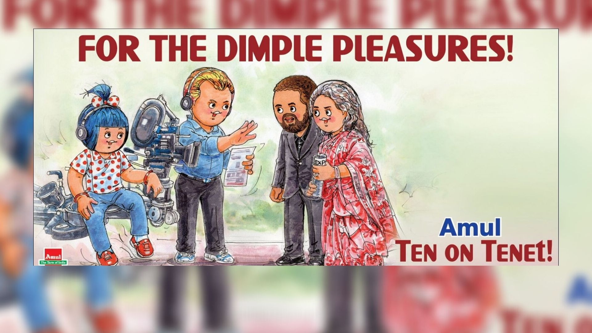 Amul Finds Christopher Nolan's 'Tenet' a 'Dimple Pleasure'