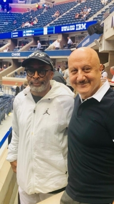 Anupam Kher discusses cinema, tennis with Spike Lee