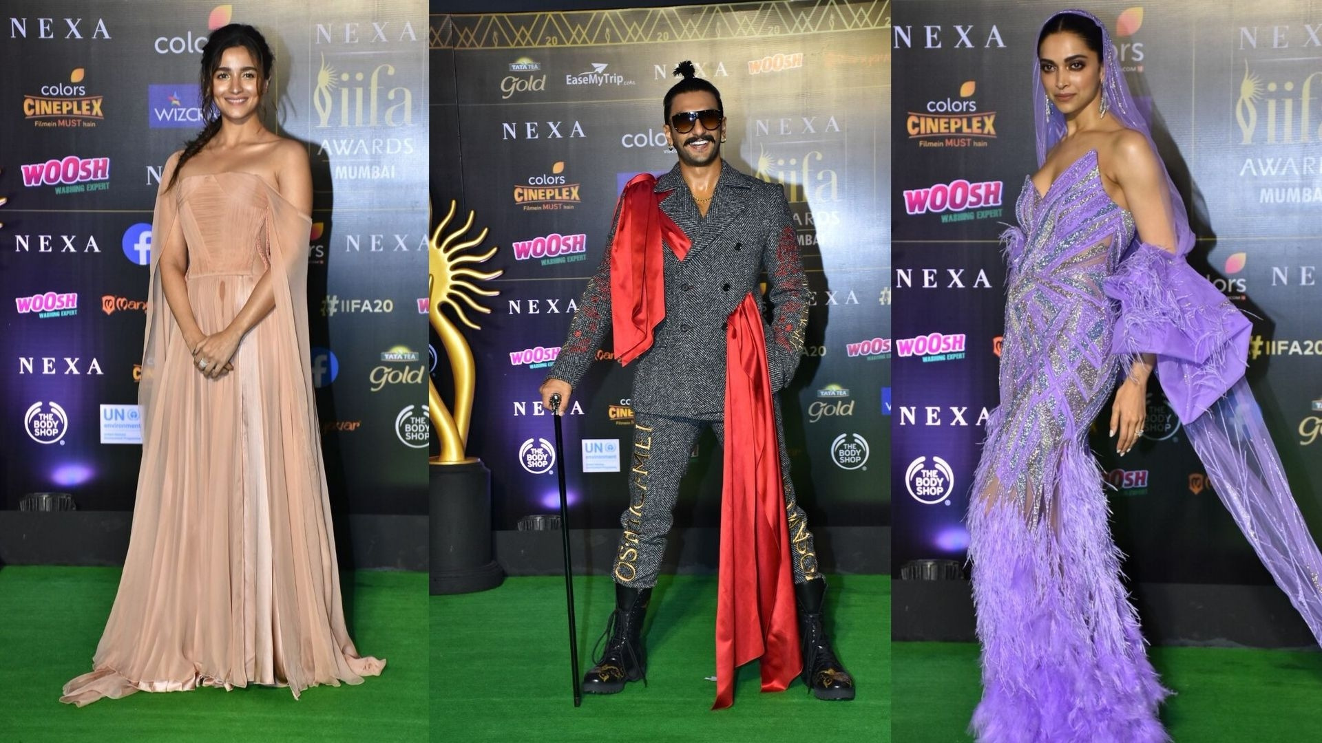 Alia, Ranveer, Deepika Make a Style Statement at IIFA Homecoming