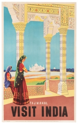 Travel posters from 20th-century India on display in NYC
