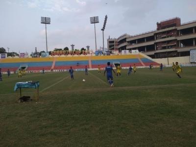 Neck to neck action in Subroto Cup U17 boys' semis