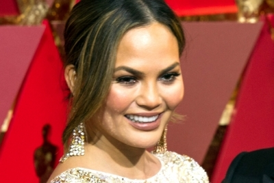 Chrissy Teigen welcomes long-awaited kiss from toddler son