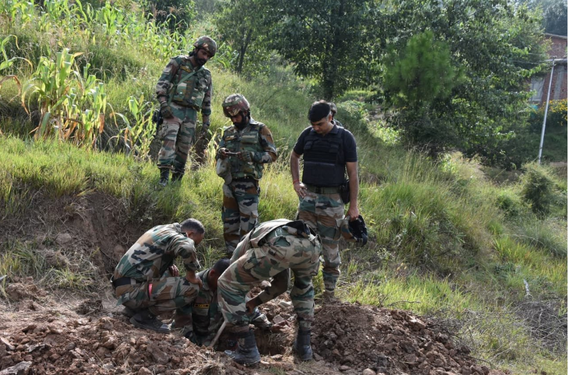 Nine mortar shells found along LoC in JK, defused