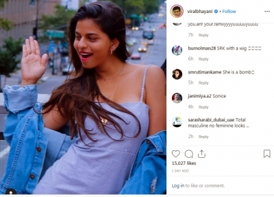 Is that SRK with wig? Netizens troll Suhana Khan's new pic
