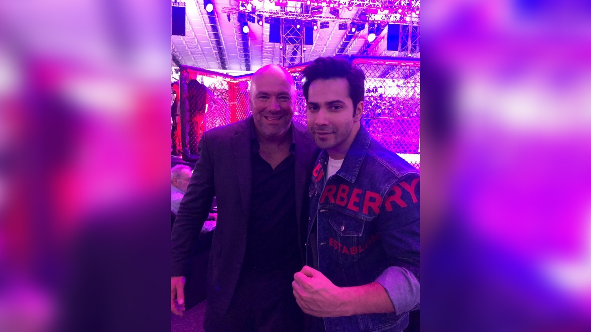 Pics: Varun Attends UFC Championship in Abu Dhabi as Special Guest