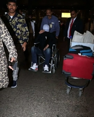 Irrfan Khan spotted at airport in wheelchair