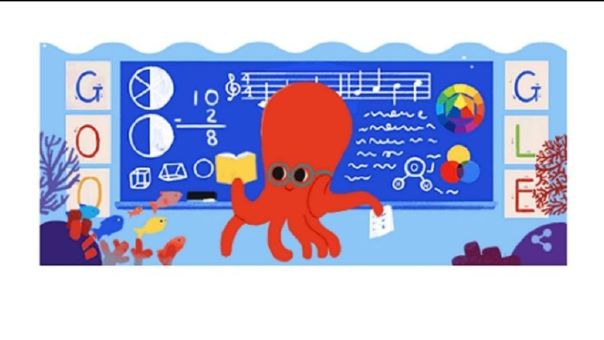 Google Dedicated a Doodle to Teachers' Day 2019