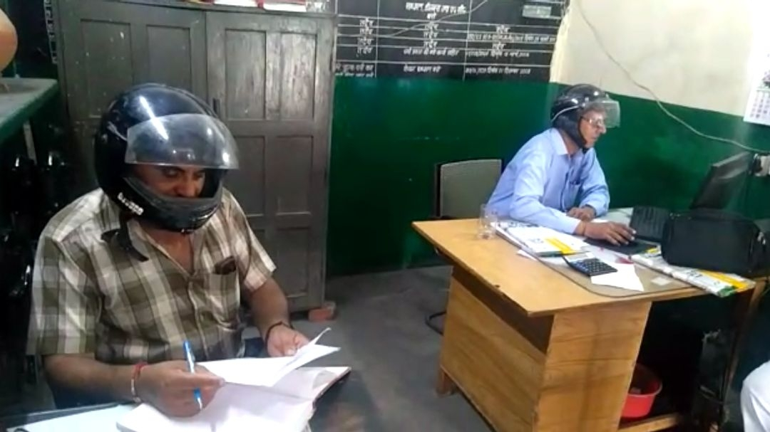 Roorkee Roadway Office in Shambles, Staff Forced to Wear Helmet
