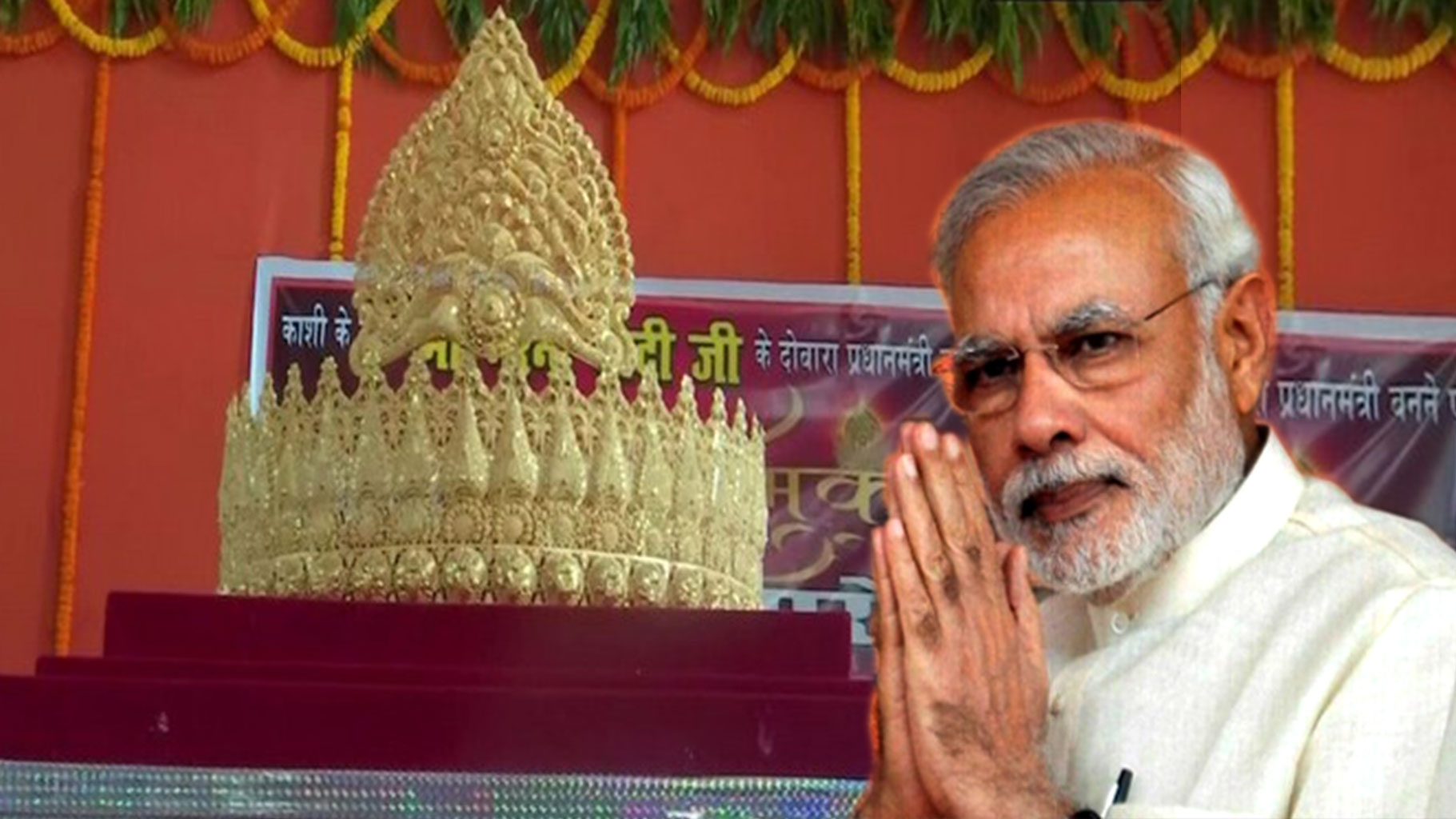 Ardent Fan Offers Gold Crown to Lord Hanuman on PM Modi's Birthday