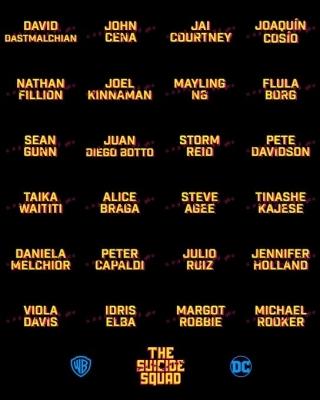 James Gunn announces full cast of 'The Suicide Squad'