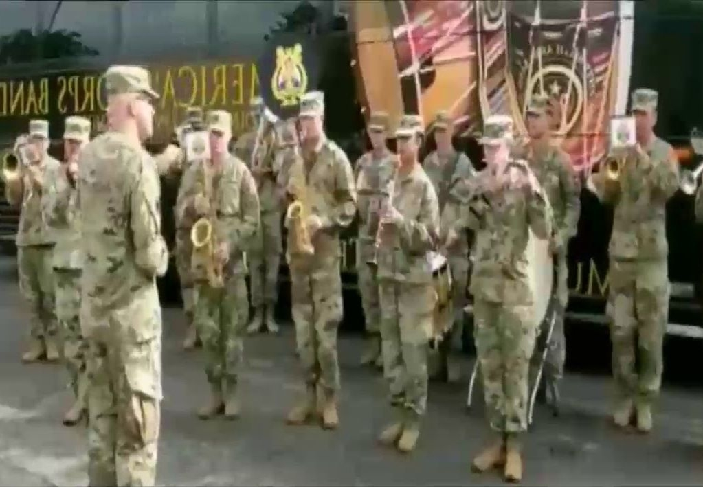 US Army Band Plays Indian National Anthem During Joint Exercise