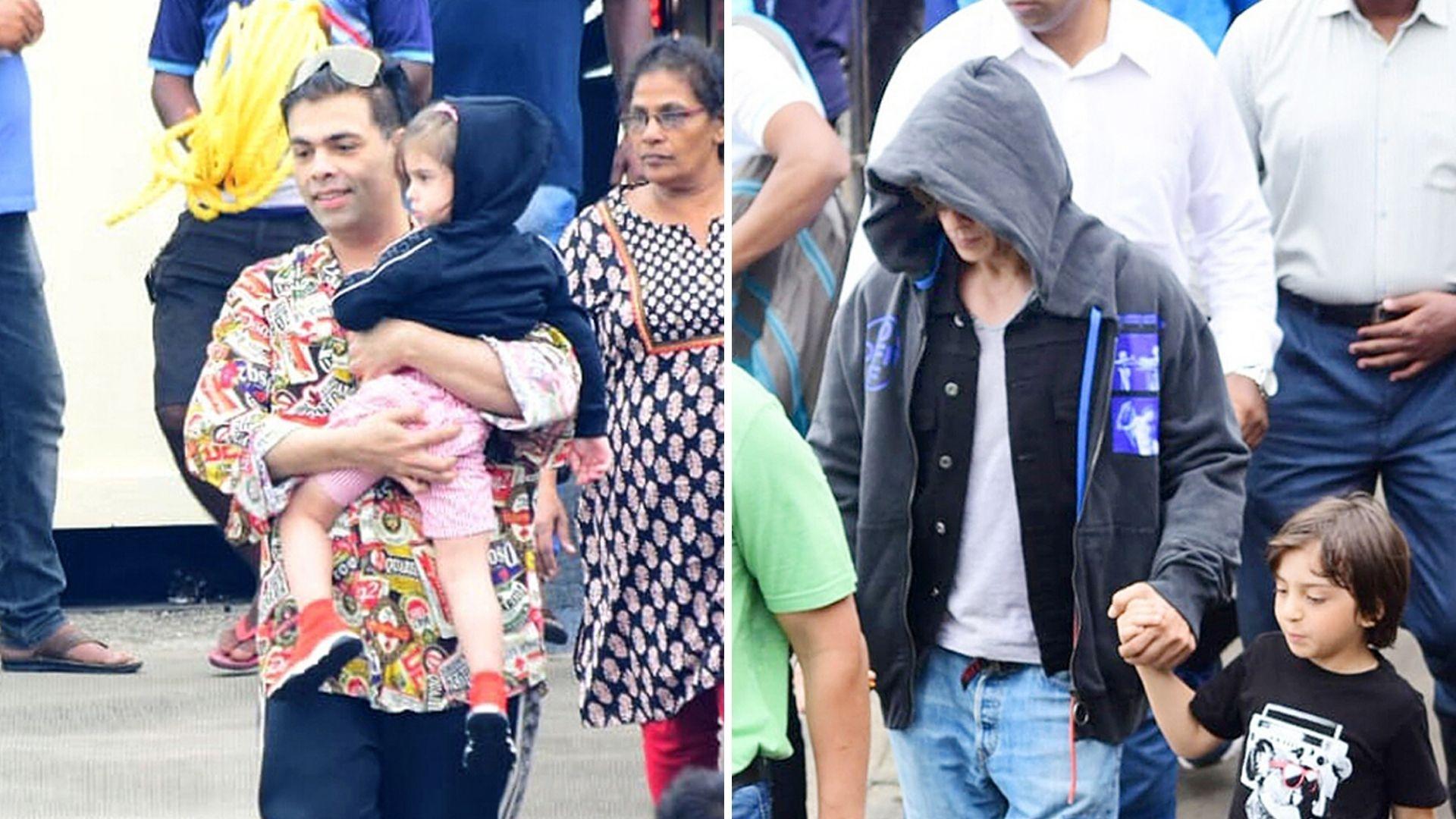 In Pics: SRK, Gauri, KJo Depart From Gateway of India