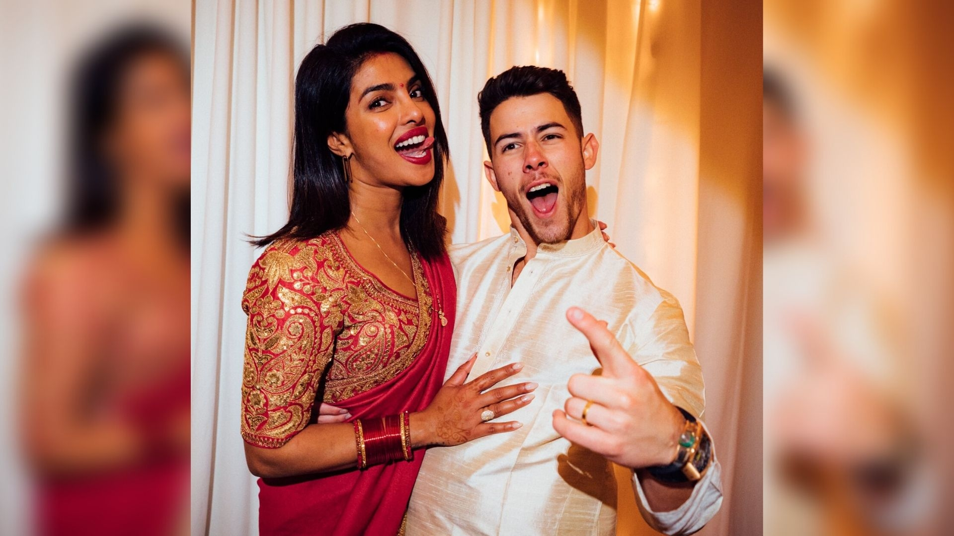 Nick's Karva Chauth Post For PeeCee Causes Laugh Riot on Twitter