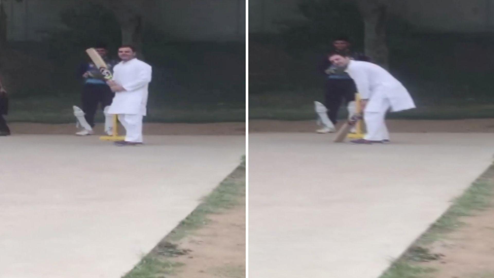After Chopper Makes Emergency Landing, Rahul Gandhi Plays Cricket