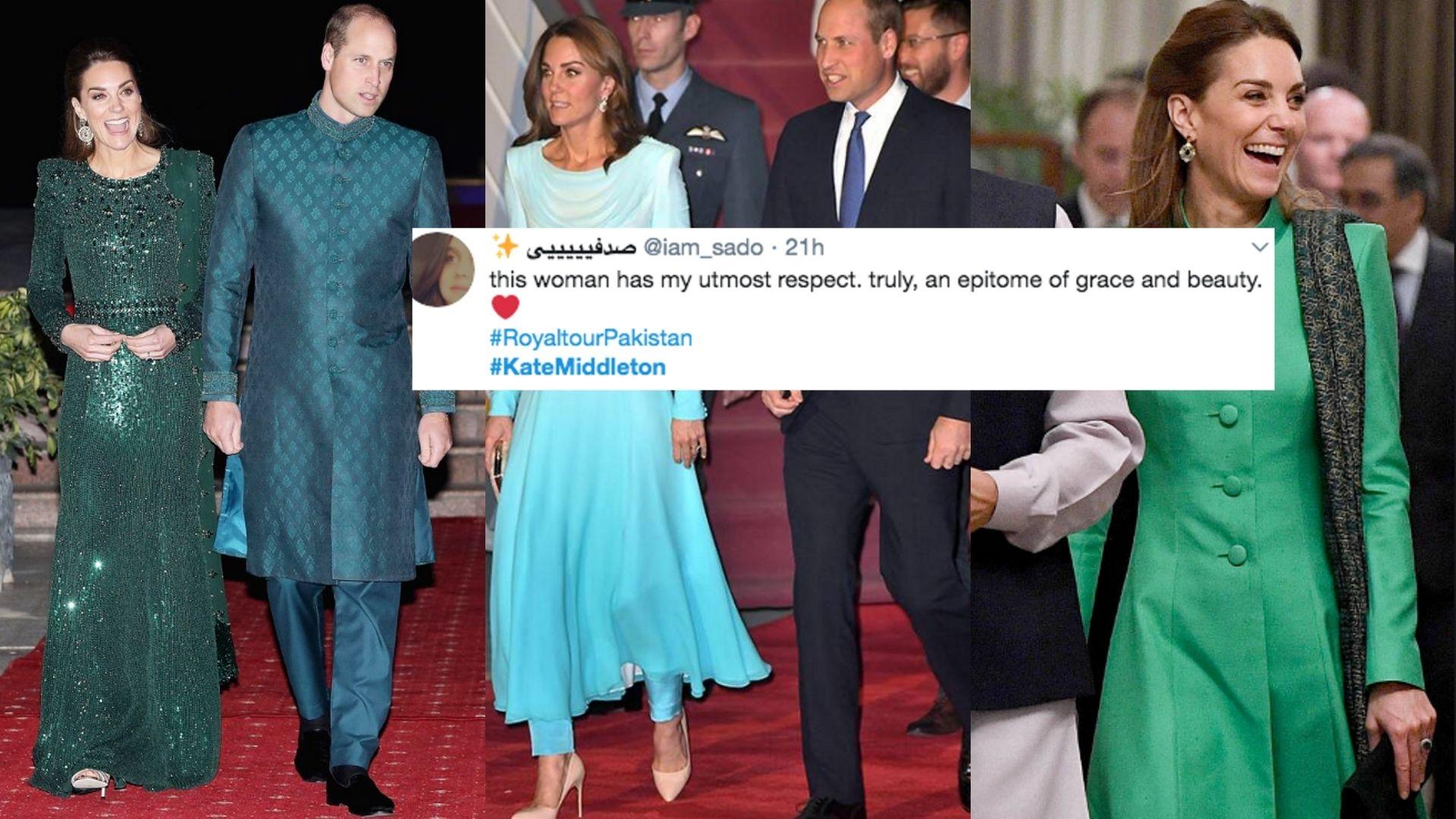 Kate Middleton's Traditional Attires Draw Praise in Pakistan