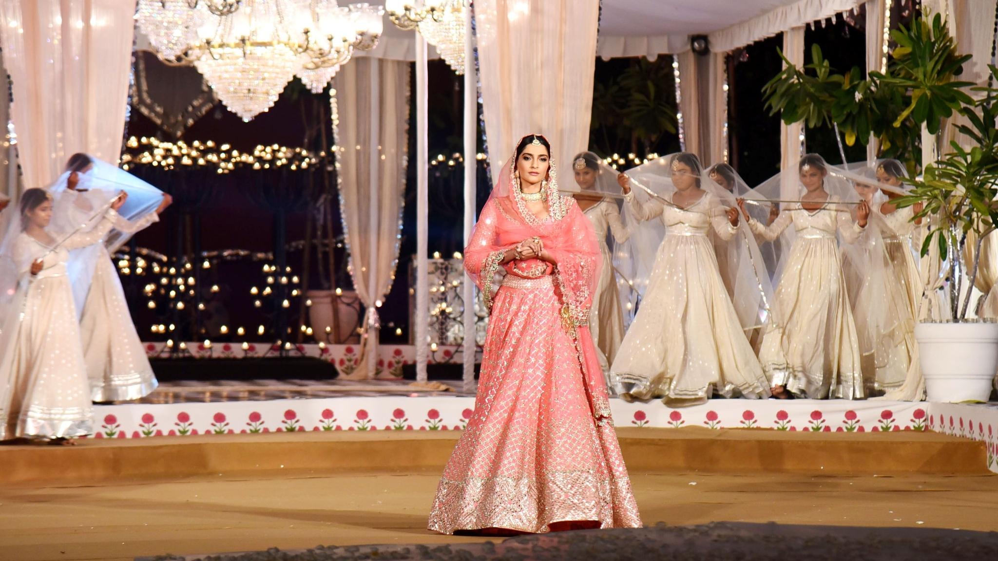 In Pics: Sonam Looks Ethereal Walking The Ramp for Abhinav Mishra