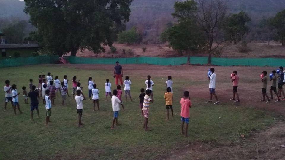 Ritwik Bhattacharya Trained Tribal Kids for Junior Squash National