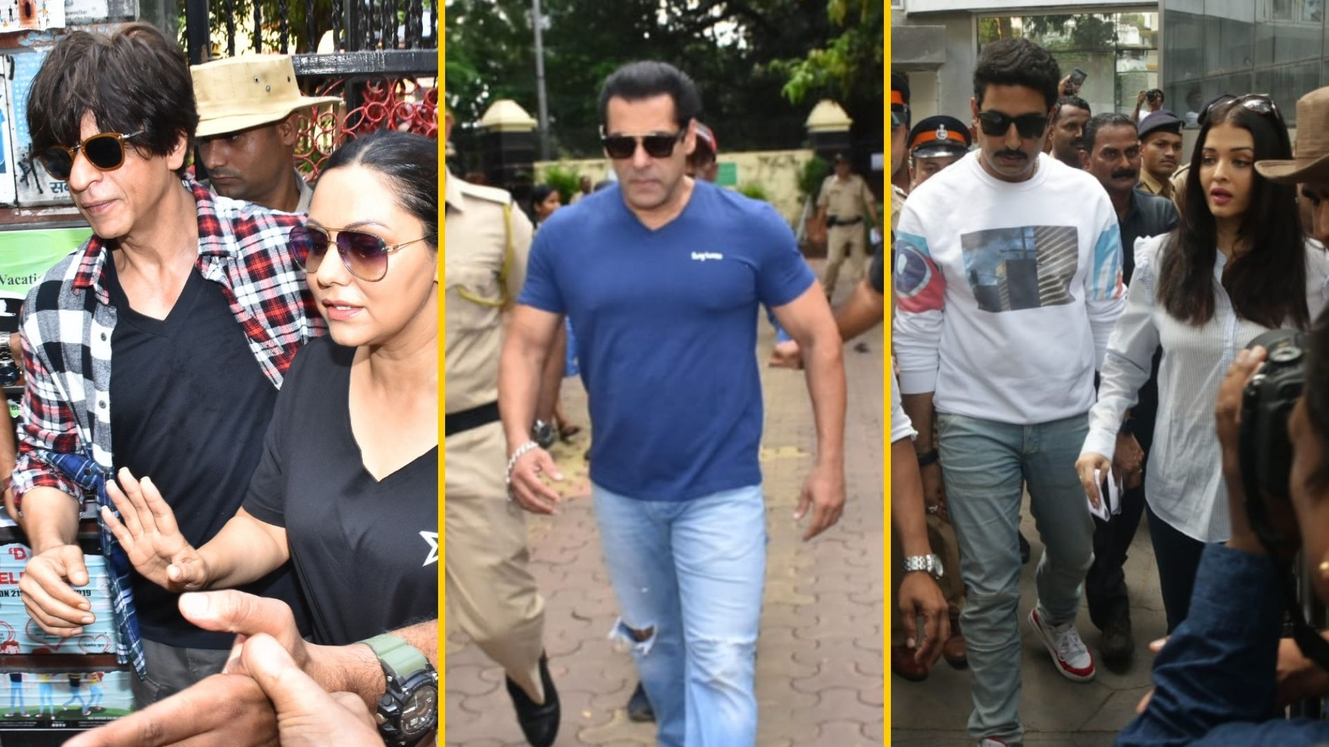 Pics: SRK & Gauri, Salman, Bachchans Vote in Mumbai